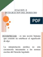 Interpretacion e Integracion Del Derecho