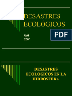DESASTRES ECOLÓGICOS HÍDRICOS