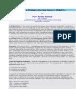 Financial Strategies Creating Values in Global Era