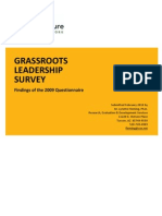 C&NN GRASSROOTS  LEADERSHIP   SURVEY 2009