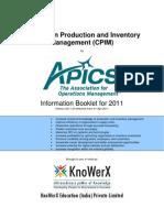 KEI APICS CPIM Information Booklet 2011.03