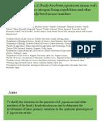 Genomic Comparizon of Bradyrhizobiaceae