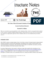 World Bank - The Value of Time