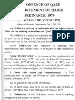 Qazaf Ordinance 1979