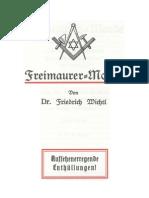 Wichtl, Friedrich - Freimaurer-Morde (1921, 48 S., Scan, Fraktur)