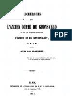 Recherches sur l'ancien comté de Gronsveld et sur les anciennes seigneuries d'Elsloo et de Randenraedt / par M.J.W