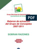 IU Antequera - Balance 2007 - 2011 del Grupo Municipal