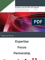 Acrobat x Und Das 3d PDF Plugin Von Tetra4d
