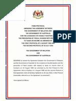 DTC agreement between Australia and Malaysia