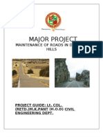 Maintenance of Roads in Deserts and Hills