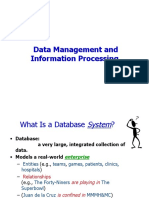 Intro to DBMS