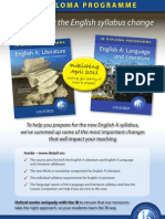 Are you prepared for the new IB English syllabuses?