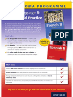 IB Language Skills flier