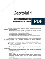 1.Definirea Si Evolutia Conceptului de Cultura
