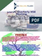 1st Quarter HSE Presentation