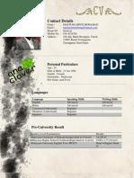 anaclover's CV