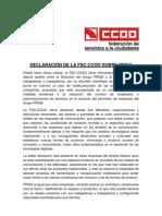 DECLARAcIÓN  DE LA FSC SOBRE PRISA_4_5_2011