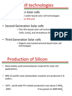 Silicon Solar Cell Technologies