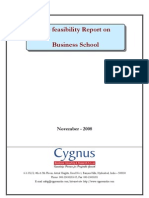 TOC of Pre Feasibility Report on Business Schools-Nov 08