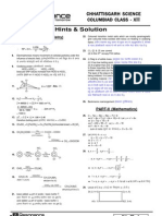 Chattisgarh Science Columpiad Class-XII Test Paper with Solution Booklet