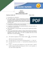 Cbse Math Paper2009