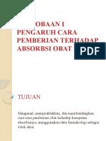 PERCOBAAN I