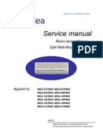 LG Split Type Air Conditioner Complete Service Manual ...