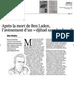 "Après la mort de Ben Laden, l'avènement d'un "" djihad sans leader "" ? (Marc Hecker, in Le Figaro, 4 mai 2011)"