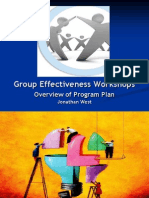 Group Effectiveness Workshops - Program Plan Presentation