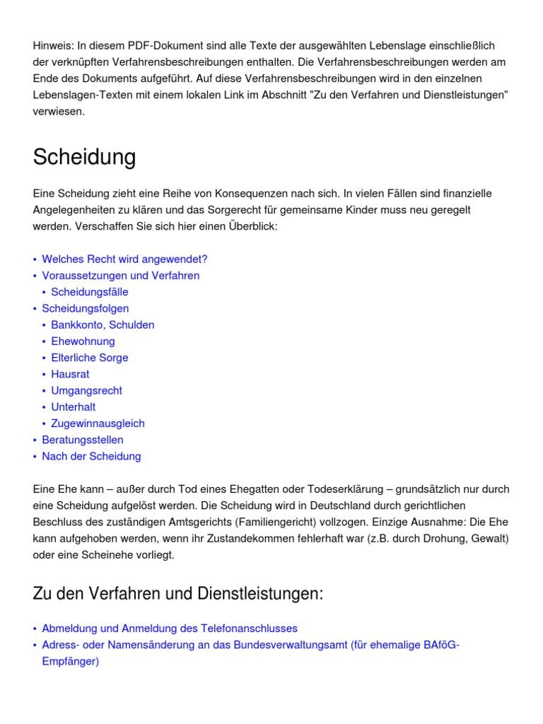 Contemporary Scheidung Hinweis Format Motif - FORTSETZUNG ...