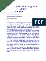 Educational Technology as a Career