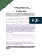 Agricultura Organica en Puerto Rico-Preguntas y Respuestas