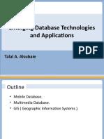 Emerging DB Technologies