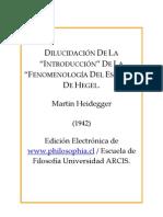 Heidegger Martin - Introduccion a La Fenomenologia de Hegel