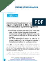 Esperanza Aguirre implantará la libre elección de centro educativo la próxima legislatura
