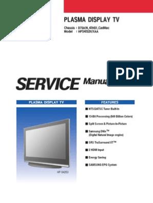 Samsung Hps4253 Plasma | Electrostatic Discharge