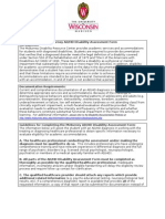 Adhd Disability Assessment Form Letterhead