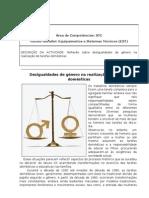 ACTIVIDADE EST STC- DESIGUALDADE DE GÉNERO NA UTILIZAÇÃO EST