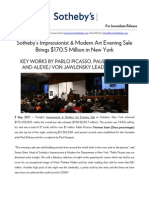 Results - Impressionist & Modern Art Evening Sale - Sotheby's New York, 3 May 2011