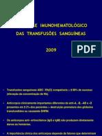 Controle Imuno-hematológico Transfusões
