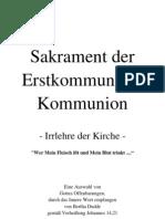 238 Sakrament der Erstkommunion-Kommunion ... Irrlehre der Kirche ....