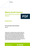 Making Growth Inclusive: Some lessons from countries and the literature