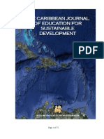 The Caribbean Journal of Education for Sustainable Development, April 2011
