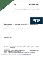 NCh169-Ladrillos cerámicos - Clasificación y requisitos