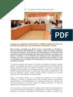 Nota de prensa del SESCAM. Constitución del Comité de Ética Regional