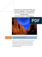 HISTORIA DE DESTRUCCIÓN DEL CASCO URBANO Y DEL BARRIO SALADILLO DE LA CIUDAD DE MARACAIBO