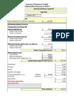 2011 Sugar Bowl NCAA Expense Report -- Arkansas