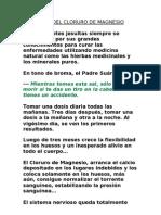 Bondades Del Cloruro de Magnesio Magnesol