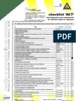 ACT Check List - Registos Legais de Segurança