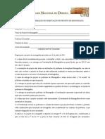 FORMULARIO DE CONFIRMACAO